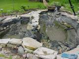 A backyard fish pond enlarged 2002 for Sunfish in a backyard pond